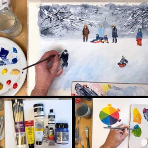 Acrylics painting class bundle