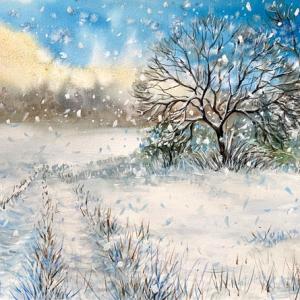 Winterscape Watercolour