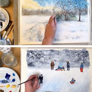 Winterscapes painting bundle