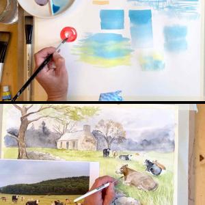 Crofts and Cows Watercolour Mini Course