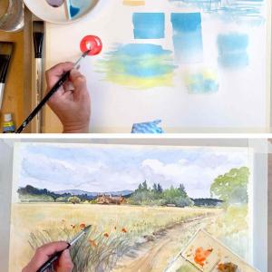 Illustrative Rural Landscape Watercolour Mini Course