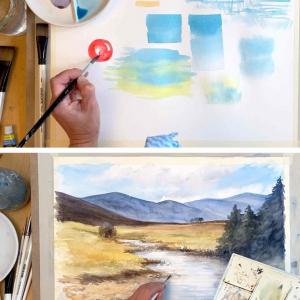 Mountains & Rivers Watercolour Mini Course